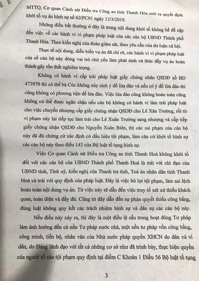 Kỳ án 1 thửa đất 4 sổ đỏ: Chỉ đạo của Bí thư tỉnh uỷ Thanh Hoá đang bị phớt lờ? - 5