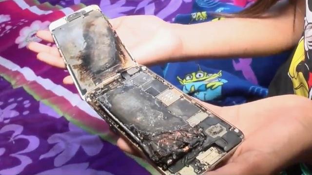 iPhone 6 bất ngờ bốc cháy trên tay bé gái 11 tuổi - 1
