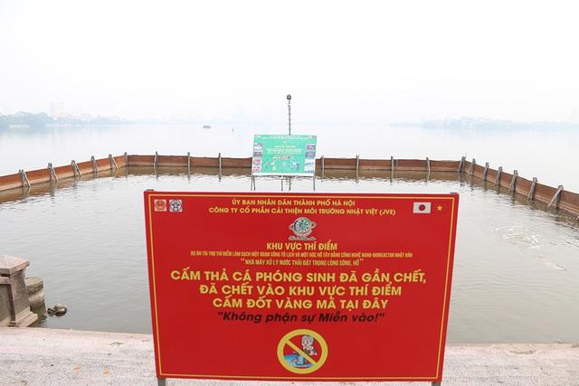 Nước Hồ Tây đổi màu sau thí điểm công nghệ làm sạch Nhật Bản - 1