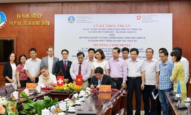 Thụy Sỹ tài trợ 365.000 Franc cho Việt Nam làm dự án thông tin viễn thám cây lúa - 1
