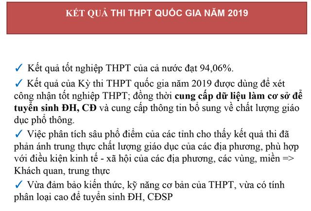 Tỷ lệ đỗ tốt nghiệp THPT quốc gia 2019 đạt 94,06% - 2