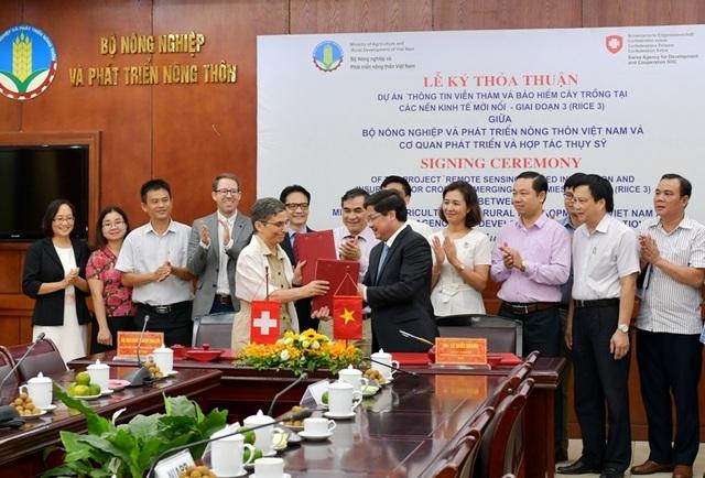 Thụy Sỹ tài trợ 365.000 Franc cho Việt Nam làm dự án thông tin viễn thám cây lúa - 2