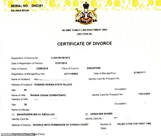 Luật sư lên tiếng về tin đồn cựu Hoa hậu Nga ly hôn cựu vương Malaysia - 2