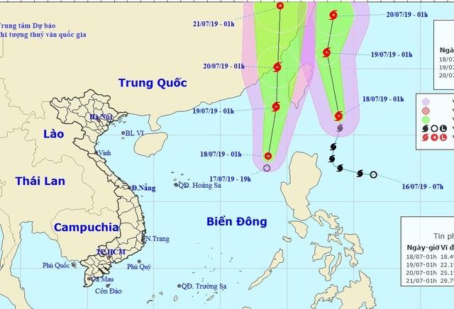 Bão Danas và áp thấp nhiệt đới chạy song song trên biển - 1