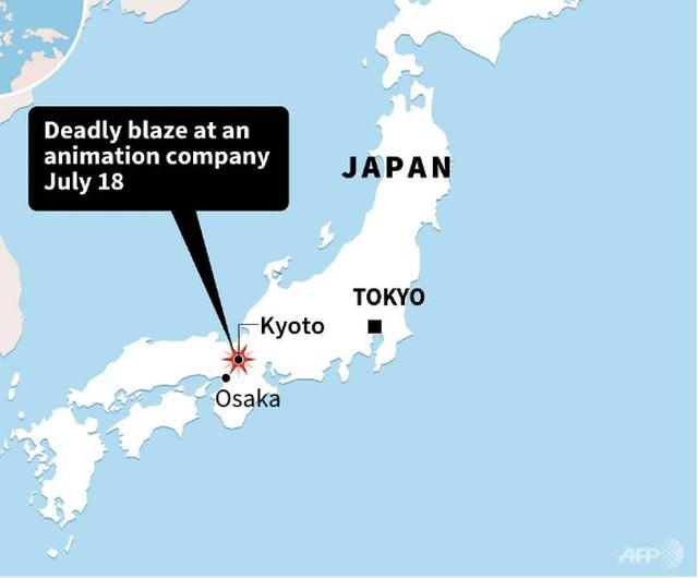 Cháy xưởng phim hoạt hình nổi tiếng tại Nhật Bản, ít nhất 24 người chết - 5