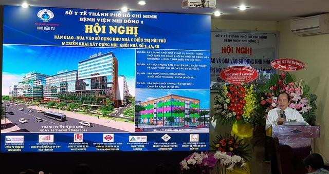 Đầu tư 2.000 tỷ đồng xây mới 3 khối nhà Bệnh viện Nhi Đồng 1 - 2