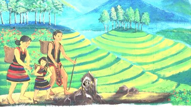 Con đường bích họa ở vùng sâm Ngọc Linh