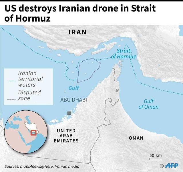 """""""Chảo lửa"""" vùng Vịnh thêm căng thẳng sau vụ Mỹ bắn rơi máy bay Iran - 2"""