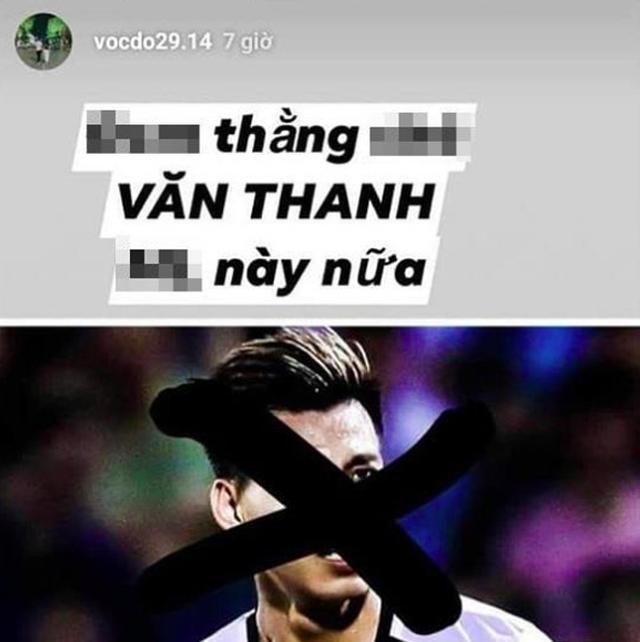 Bạn gái cầu thủ CLB Hà Nội mắng Văn Thanh và tranh cãi với fans bóng đá - 1