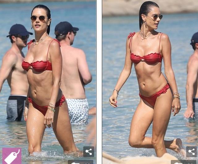 Alessandra Ambrosio vui đùa cùng con trên biển - 2