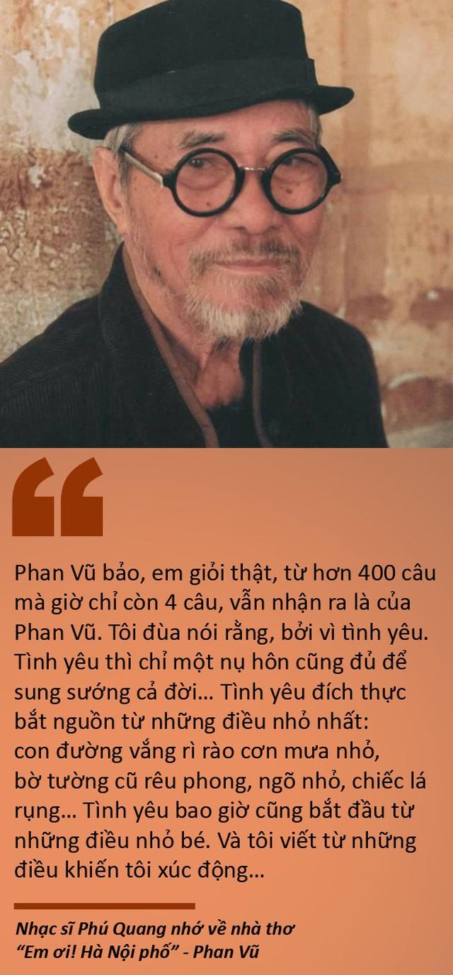 """Tạm biệt nhà thơ """"Em ơi! Hà Nội phố"""" - Phan Vũ - 1"""