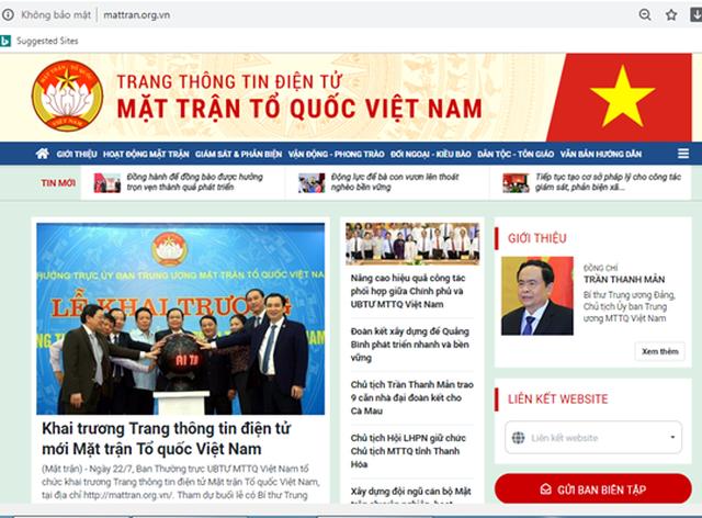 Khai trương Trang thông tin điện tử mới Mặt trận Tổ quốc Việt Nam - 2