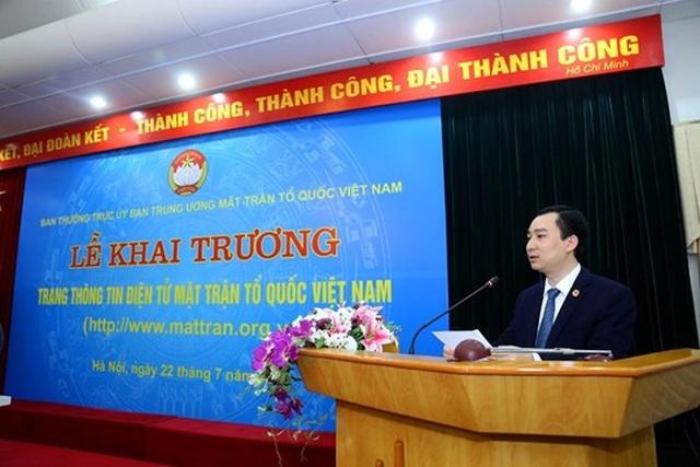 Khai trương Trang thông tin điện tử mới Mặt trận Tổ quốc Việt Nam - 4