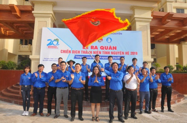 Ra quân đoàn tình nguyện tham gia chiến dịch tình nguyện mùa hè xanh năm 2019 - 2