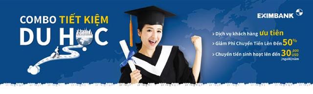Eximbank triển khai combo tiết kiệm du học - 1