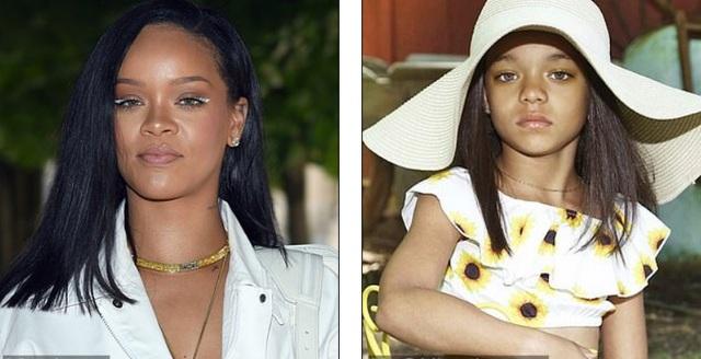 Rihanna sốc khi thấy bản sao nhí - 2