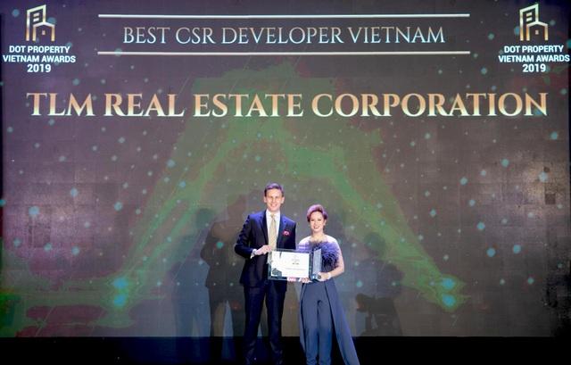 Tập đoàn Bất động sản TLM đạt cú đúp giải thưởng tại Dot Property Vietnam Awards 2019 - 2