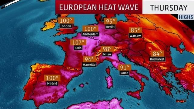 """Châu Âu oằn mình dưới đợt nắng nóng """"nghiền nát"""" mọi kỷ lục - 7"""