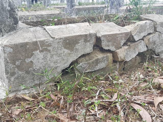 Gần 100 ngôi mộ liệt sĩ bị sụt lún, nứt nẻ: Chạnh lòng niềm tri ân! - 3