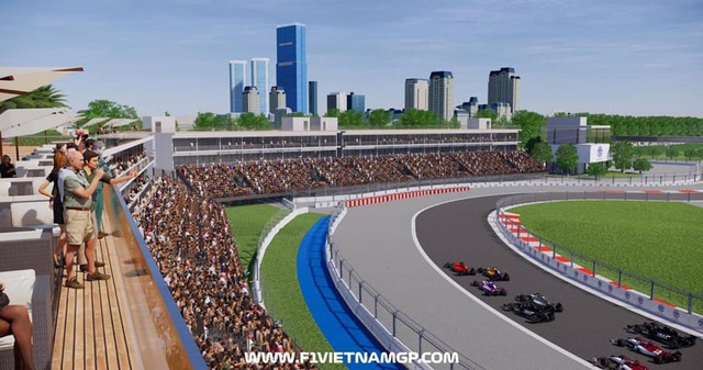 Những đoạn đường đua F1 đầu tiên tại Hà Nội đã thành hình - 12