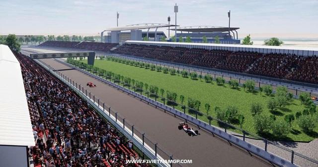 Những đoạn đường đua F1 đầu tiên tại Hà Nội đã thành hình - 8