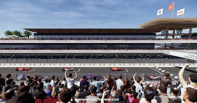 Những đoạn đường đua F1 đầu tiên tại Hà Nội đã thành hình - 14
