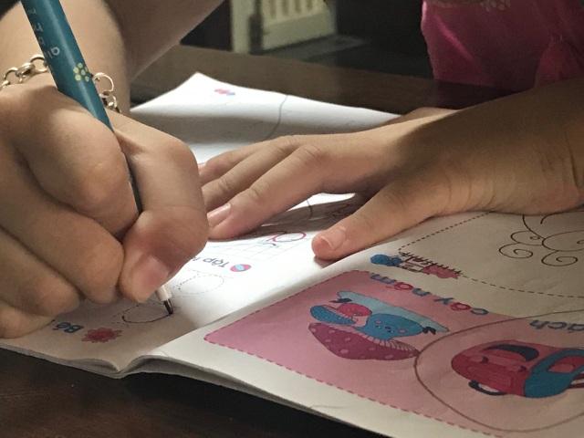 Hết hơi theo lịch học chữ trước khi vào lớp 1 - 4