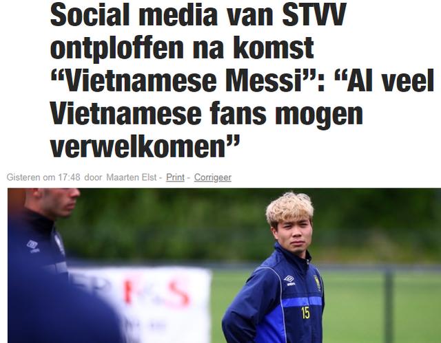 """Báo Bỉ: """"Công Phượng là ngôi sao ở Việt Nam nhưng vô danh tại Sint-Truidense"""" - 1"""