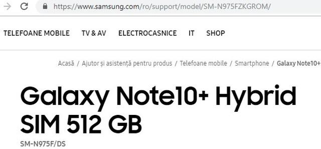 Samsung vô tình xác nhận sự tồn tại của phiên bản Galaxy Note10+ - 1