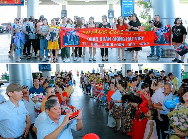 Tân quán quân Giọng hát Việt Đức Thịnh bịt kín mặt khi được chào đón ở quê nhà - 2