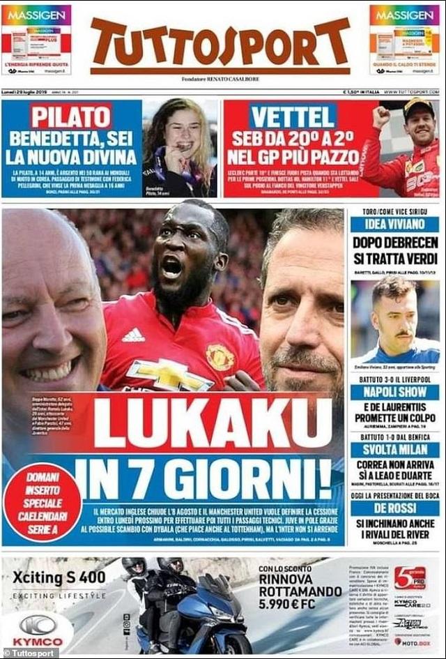 Nhật ký chuyển nhượng ngày 29/7: Juventus muốn đổi Dybala lấy Lukaku - 1