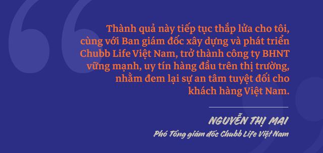 Phó Tổng giám đốc Chubb Life Việt Nam Nguyễn Thị Mai: Chặng đường từ một người tư vấn bảo hiểm tới vị trí Phó Tổng Giám đốc - 6
