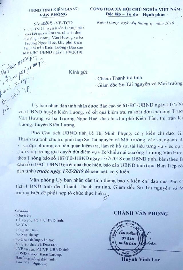 Yêu cầu báo cáo Chủ tịch tỉnh Kiên Giang vụ thu hồi đất 20 năm chưa đền bù cho dân! - 3