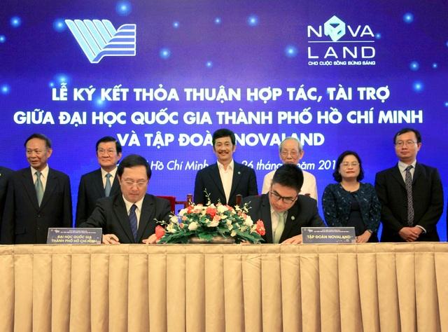 Quỹ phát triển Đại học Quốc gia TPHCM tiếp nhận 10 tỉ đồng tài trợ từ Novaland - 1