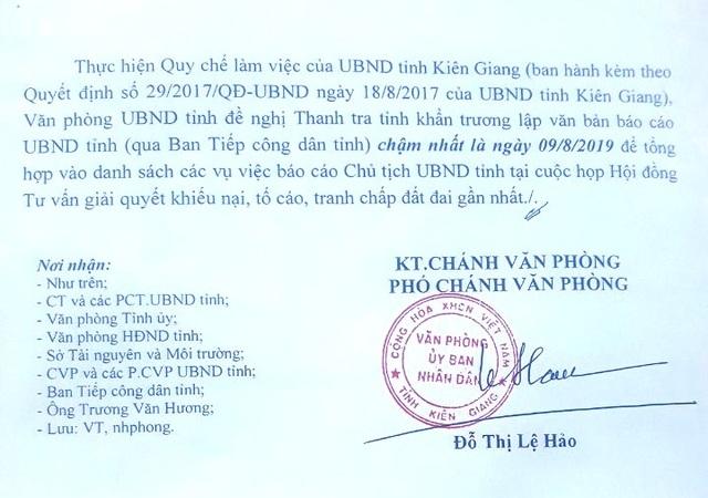 Yêu cầu báo cáo Chủ tịch tỉnh Kiên Giang vụ thu hồi đất 20 năm chưa đền bù cho dân! - 2