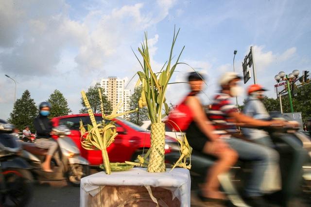 Hô biến lá dừa nước miền Tây thành giỏ hoa, con vật ở Hà Nội, kiếm tiền triệu mỗi ngày - 13