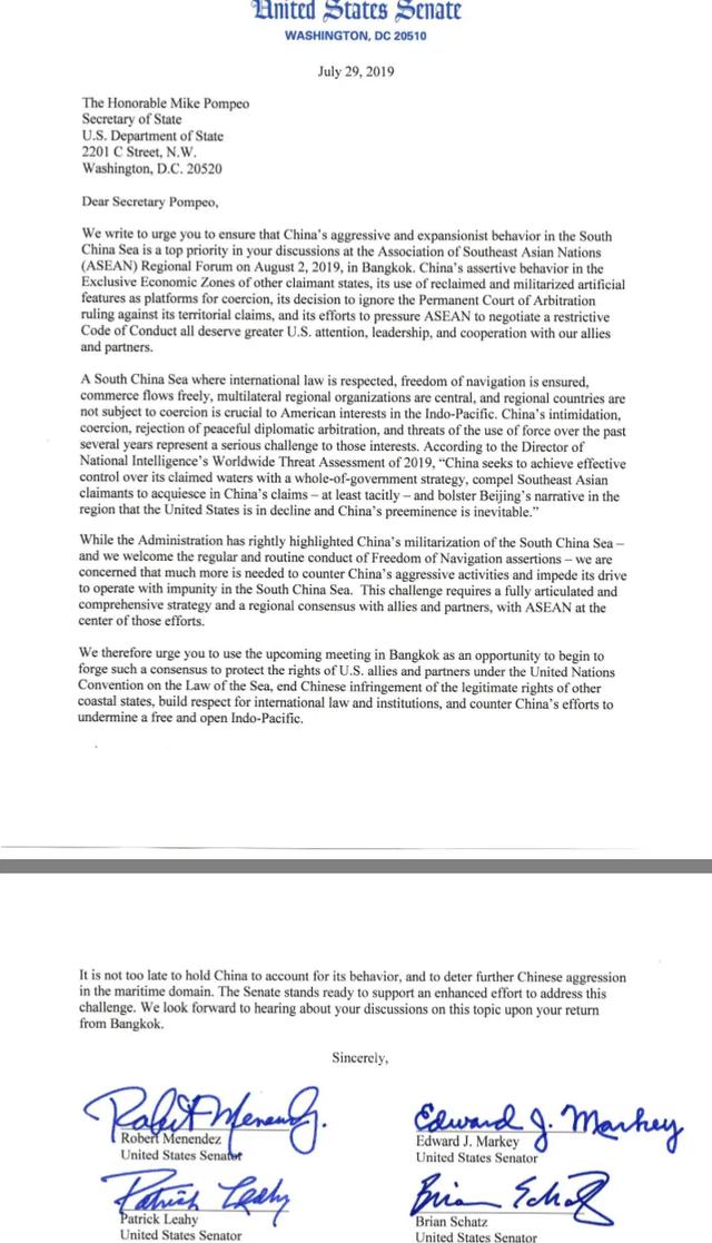 Nghị sĩ Mỹ đồng loạt kêu gọi ngăn chặn Trung Quốc bành trướng trên Biển Đông - 2