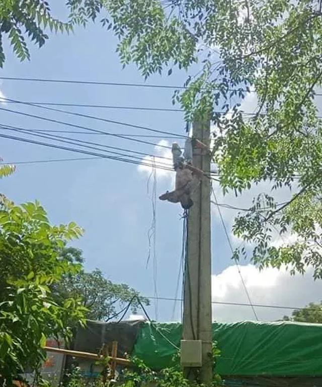 Giải cứu xe tải vướng dây điện, tài xế bị điện giật trọng thương - 2