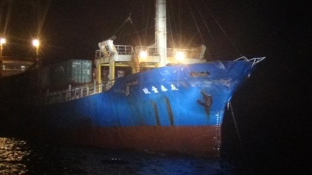 Đài Loan nói tàu chiến Trung Quốc đâm móp tàu hàng giữa lúc căng thẳng - 1