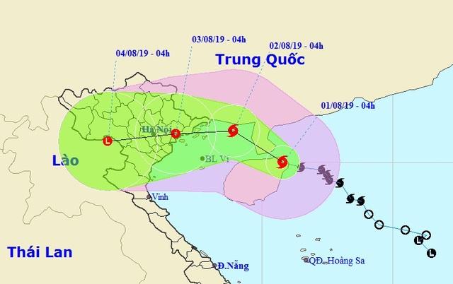Bão số 3 hướng vào Việt Nam, nhiều tỉnh phía Bắc mưa to - 1