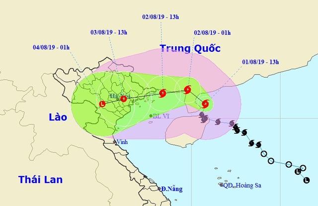 Bão số 3 đổi hướng trước khi đổ bộ vào Quảng Ninh - Thái Bình - 1