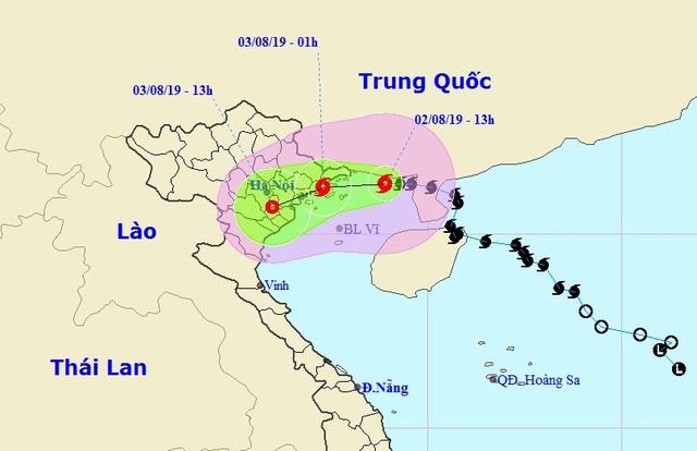 Đêm nay bão số 3 đổ bộ vào đất liền Quảng Ninh - Nam Định - 1