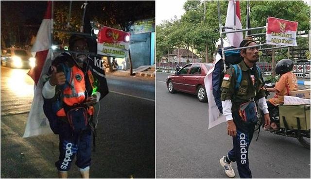 Indonesia: Người đàn ông đi bộ giật lùi 800 km đến gặp tổng thống vì mục đích bảo vệ môi trường - 1