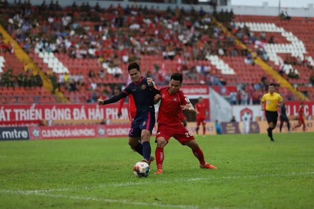 Đá hỏng 11m, CLB Hải Phòng trắng tay phút cuối trước Sài Gòn FC - 1