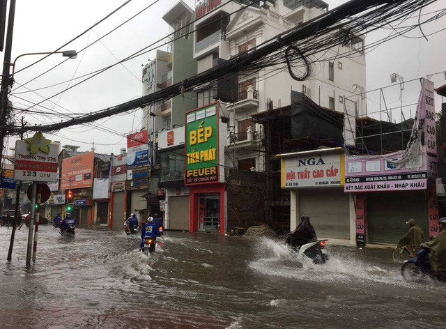 Quảng Ninh - Hải Phòng: Đường phố ngập sâu, cây xanh gãy đổ ngổn ngang sau bão số 3