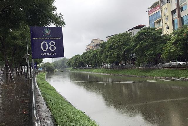 Khu thí nghiệm công nghệ Nhật làm sạch sông Tô Lịch lại chìm trong nước - 8