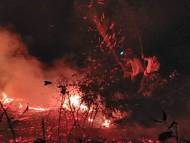 """Dân làng tự chữa cháy, thắng """"giặc lửa"""" trong đêm ở khu rừng keo - 5"""