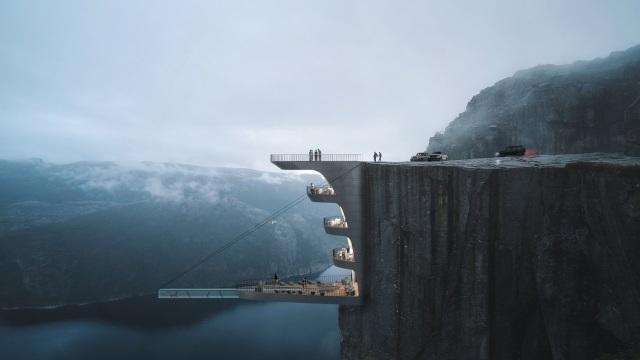 Chóng mặt với khách sạn cao hơn 600 mét trên mặt biển - 1