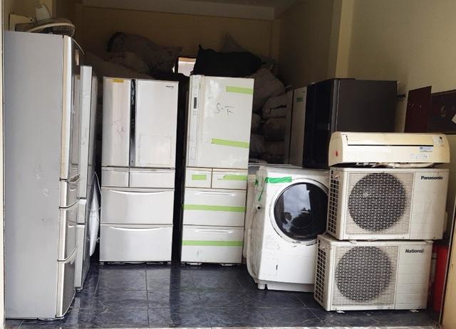 12 tấn máy lạnh, máy giặt cũ nhập lậu bị bắt giữ - 2