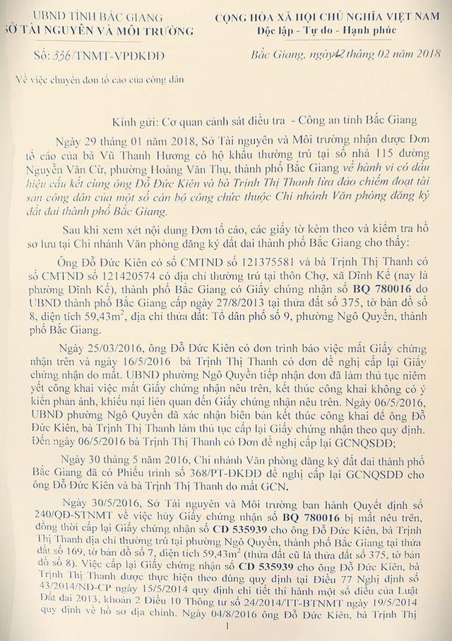 """Vì sao cần khởi tố ngay vụ án cấp sổ đỏ """"ma"""" tại Sở Tài nguyên tỉnh Bắc Giang? - 1"""